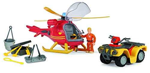 Smoby – Feuerwehrmann Sam – Helikopter Ocean + Quad Mercure – 1 Figur inklusive – 109251014002