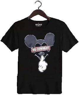 NO COMMENT PARIS(ノーコメント パリ) ミッキー nc Tシャツ ブラック ホワイト メンズ レディース [並行輸入品]