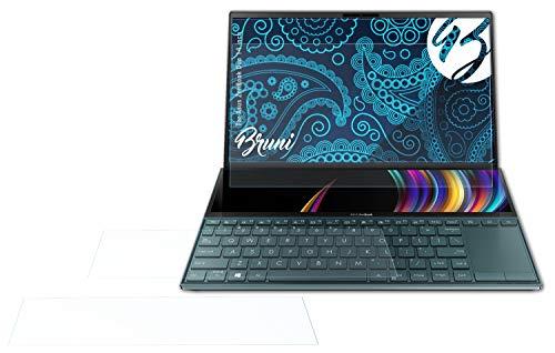Bruni Schutzfolie kompatibel mit Asus ZenBook Duo 14 inch Folie, glasklare Bildschirmschutzfolie (2er Set)