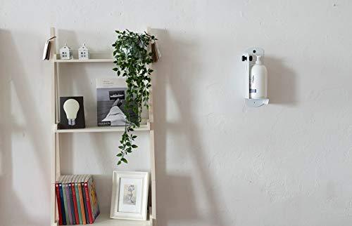 Wandhalterung für Seifenspender Gel Desinfektionsmittel oder Seife Modell S Bracky THE LAB grau RAL9006