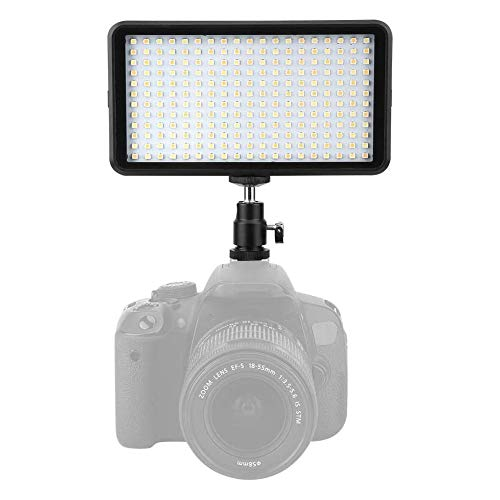 WYLZLIY-Home Cámara LED Video Light LED Video Light 3200-6000K Dimmable Llenar Luces Fotografía Conjunto de Lámpara para Bebés YouTube Entrevista Retrato