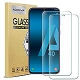 AOKUMA Cristal Templado Samsung Galaxy A40, [2 Unidades] Protector Pantalla para Samsung Galaxy A40 Robusto Antiarañazos Antihuellas con Borde Redondeado Dureza 9H+ Antiburbujas