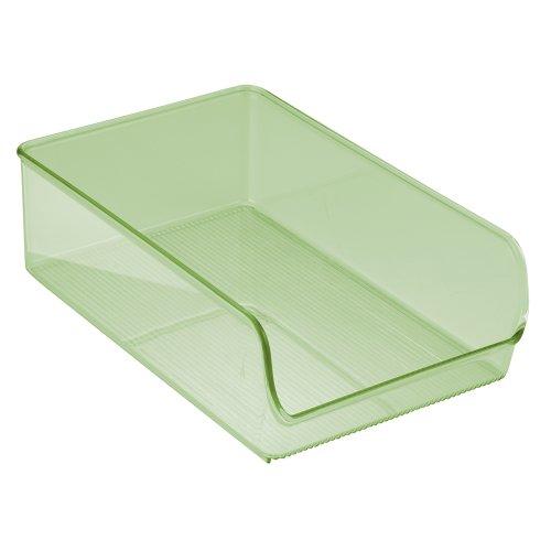 InterDesign Linus Contenedor de almacenaje, alacena, refrigerador o congelador, Color Verde Salvia