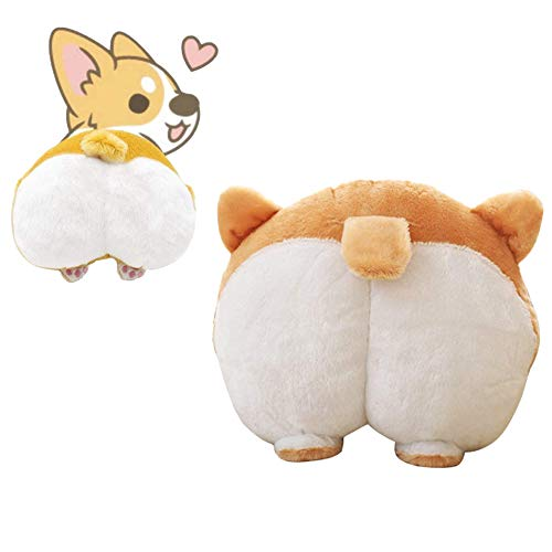 Waty Corgi Butt Dog Plush Pillow, Cute Animal Appearance, Using As Cushion Pillow Stuffed Plush Toys Doll Gifts Valentine's, Birthday, Sofa Bedroom Decoration Toy Pillow and Man
