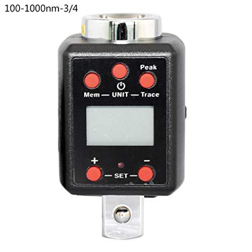 Yintiod digitale momentsleutel 1,5-1000 Nm adapter 1/4 3/8 1/2 3/4 Drive Microtorque 1000 zwart