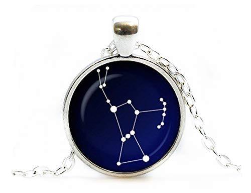 Orion Sternbild Glasanhänger Night Sky Halskette Sterne, Astronomie, Weltraumschmuck, reine Handarbeit