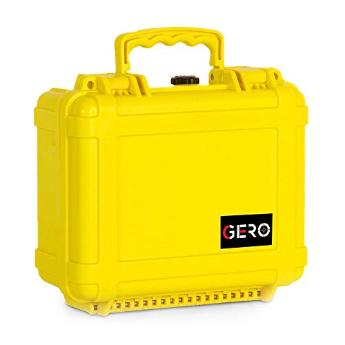 GERO Watertight Pistol Gun Case ABS Plastic Gun and Ammo Customizable Foam Conforms to MIL-STD-810F Transit Drop Test and Immersion Test and SAE J575 Dust Resistant Test Holds Up to 2 Pistols