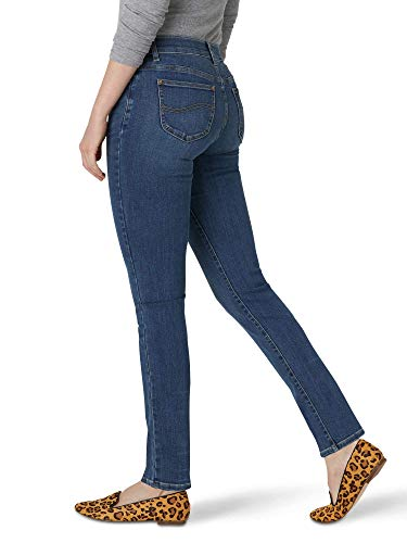 Lee Women's Secretly Shapes Regular Fit Straight Leg Jean (12, Seattle Blue)