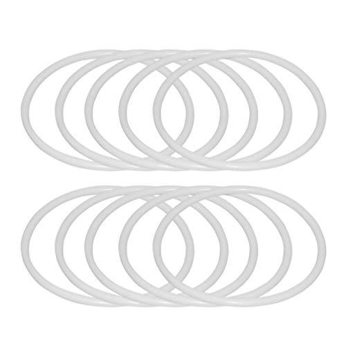 SUPVOX 12pcs Anelli Dreamcatcher Anelli Cerchi in plastica Macrame Anelli Cerchi per Fai da Te Forniture acchiappasogni Sogno (16 cm)
