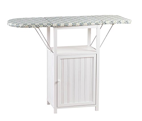 OakRidge Deluxe Ironing Board with Storage Cabinet, White