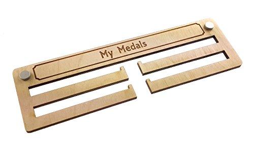 OriginDesigned - Soporte de medalla de madera para colgar (29 cm de ancho)