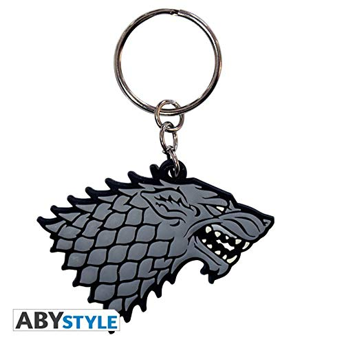 ABYstyle Game of Thrones-Keychain PVC Stark, ABYKEY098