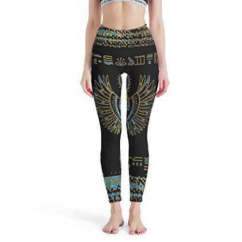 LPLoveYogaShop Leggings para niña con diseño de escarabajo egipcio, largos, suficientes pantalones de yoga, pilates, para entrenamiento cruzado blanco XS