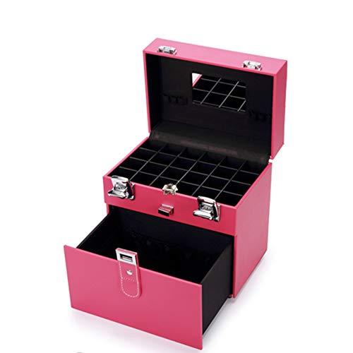 HZXLL Vanity cases Nail Art Box Case Sieraden Display nagellak voor nagelontwerp, make-up organizer, opvouwbaar, beauty case ijdelheid case ijdelheid case