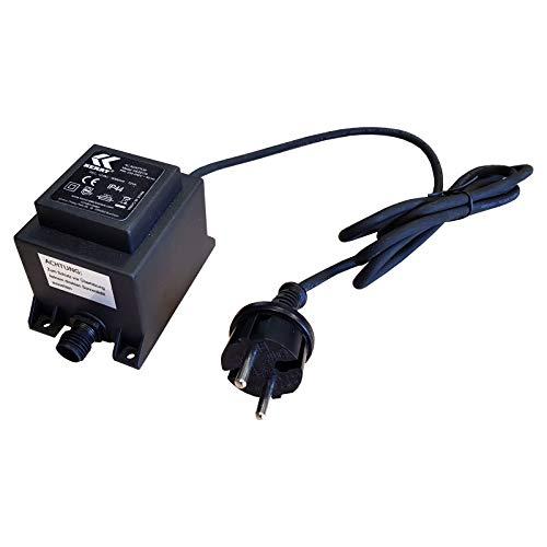 12V Trafo, 72VA/72W, AC/AC kez0119 ket72 6000mA Wechselstrom, für den Außenbereich IP44 u.a. für LED-Beleuchtung und Pumpen (kez0119) u.a. für Kerry und Jebao Pumpen