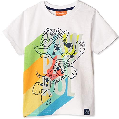 Camiseta original de la Patrulla Canina – Nickelodeon para niño, de manga corta, 100% algodón, diseño de personajes Marshall de 2 a 8 años