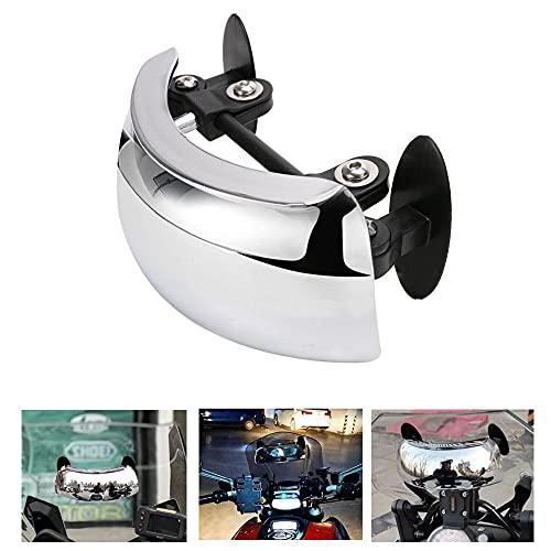 JAP768 Motocicli Vista Posteriore Specchio Motocross 180 Gradi Sicurezza Blind Spot Specchio Cafe Racer Accessori retrovisore per BMW 1200GS. (Colore : Argento)