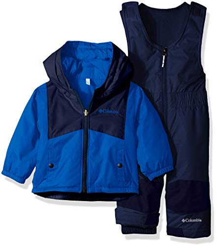 Columbia Kids & Baby Toddler Kids Double Flake Set, Super Blue/Collegiate Navy, 3T