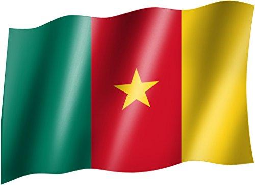 Flagge/Fahne KAMERUN Staatsflagge/Landesflagge/Hissflagge mit Ösen 150x90 cm, sehr gute Qualität