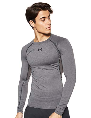 Under Armour Herren UA HeatGear Long Sleeve langärmliges Funktionsshirt, atmungsaktives Langarmshirt für Männer, Grau, Medium