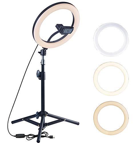 OXENDURE Trípode para cámara Web Anillo de luz para videoconferencia, para cámara...