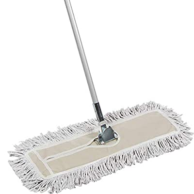 Tidy Tools 24 inch Cotton Dust Mop - 24'' X 5'' Wide Mop Head with Cut Ends