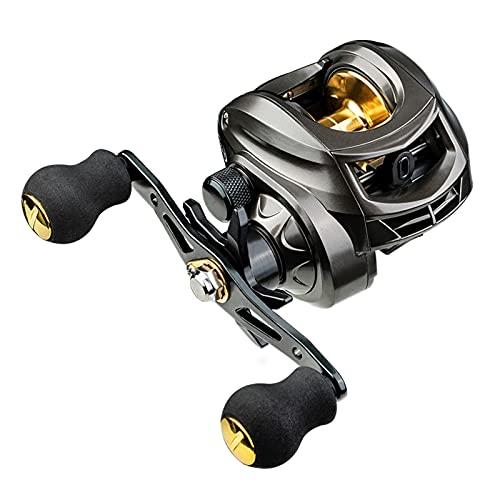 Carretes de Pesca ZWRY Carrete 7.2: 1 Carrete de Pesca de Arrastre máximo de Alta Velocidad 8KG Mano Izquierda AK