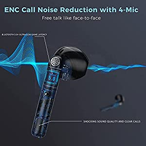 Wireless Earbuds, Wireless Bluetooth Headphones with Microphone, In-ear Headphones , Wireless Headphones with Deep Bass, for Airpods/samsung/iphone