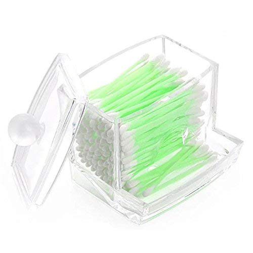 Da.Wa Boîte de rangement en acrylique transparent pour cotons-tiges, cosmétiques, outils de maquillage