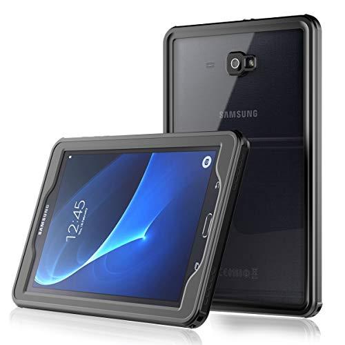Samsung Galaxy Tab A6 10.1 inch Hülle Wasserdichte, IP68 Transparent Handytasche Outdoor Robuste Unterwasser 360° Waterproof Case Slim TPU Shockproof Schutzhülle für Samsung Galaxy Tab A6 10.1 inch