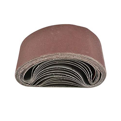 MorNon 25Pcs Cinturón Abrasivo Bandas de Lija Papeles de Lija Banda Abrasiva 75MM x 457MM para Máquina de Cinta Abrasiva