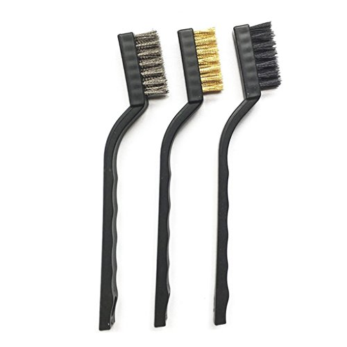 Photo de ehao-3pcs-brosse-metallique-nylon-laiton-acier