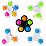wellvo Pop Fidget Spinners 5 Pack,Party Favors Push Bubbles Sensory Toy for Kids Adults Simple Fidget Toy with Bubble Fidget Pack Anxiety Stress Relief Toys Sensory Fidget Toys