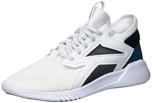 Reebok Freestyle Motion Lo - Zapatillas de baile para mujer, Blanco (Blanco/Negro/Verde azulado), 42 EU
