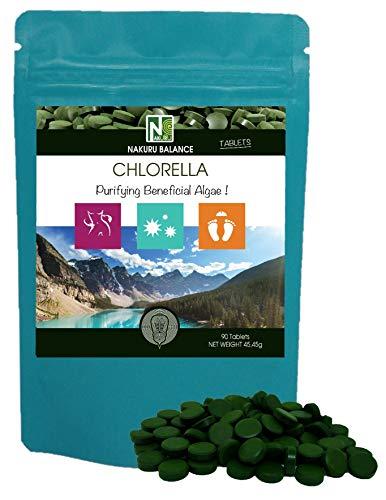 Chlorella / 90 Tabletten van 505mg / NAKURU Balance/Poeder Gedroogd en Gecomprimeerd in Koud/Geanalyseerd en Geconditioneerd in Frankrijk/Zuiverende Wijnalgen!