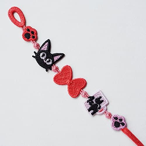 LYWER Pulsera de la pequeña Margarita Bordada de la Mano de la Cuerda de la Mano de la Mano del Regalo del día de San Valentín de los Hombres y Las Mujeres ( Color : C )
