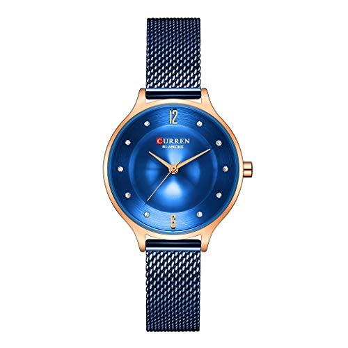 TWISFER Damenuhr Einfache Mode Analog Uhr Mesh Edelstahl Armband Uhr Edelstahl Zifferblatt Wasserdicht Uhren Business Casual Armbanduhr für Damen