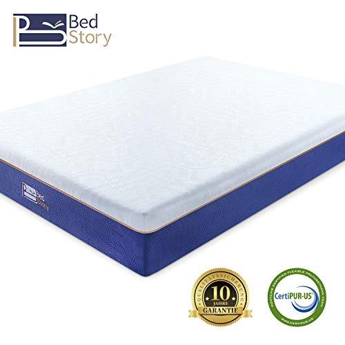 BedStory Orthopädische 22cm Viscoschaum Matratze, hochwertige H2 Härtegrad Memoryschaum Matratzen, 90x200x22cm LavendelölMatratze für Kinderbett