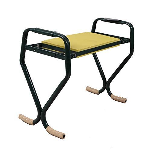 Garden Kneeler Sitz Garden Bench Garden Hocker Klappbarer Hocker, EVA Foam Pad Tragbarer Outdoor Kneeler Für Die Gartenarbeit (59,5 X 28 X 39 Cm, Gelb)