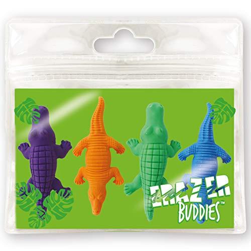Erazer Buddiez - Cocodrilo de Deluxebase. Gomas de borrar con forma de cocodrilo para niños y niñas. Colorido set de...