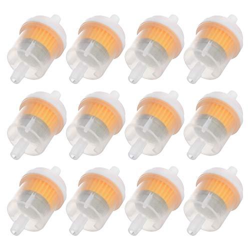 WiMas 12 Stücke Benzinfilter Kraftstofffilter Motorrad Gas Kraftstofffilter Inline Filter Flüssigkeitsfilter für 6mm Kraftstoffleitung