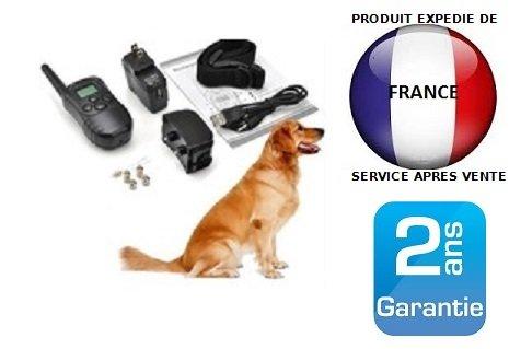 Collier de dressage rechargeable et étanche pour chien avec télécommande écran LCD Mon Jardin Discount