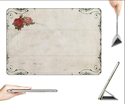 Case for iPad Pro 12.9 inch 2020 & 2018 - Roses Frame Background Image Marriage Wedding 1