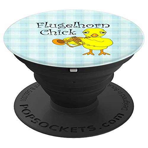 Flugelhorn Chick Text PopSockets Grip and Stand for Phones and Tablets