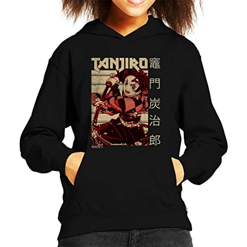 Cloud City 7 Tanjiro Kamado Kanji Kid's Hooded Sweatshirt