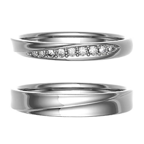 [ココカル]cococaru ペアリング 結婚指輪 シルバー 2本セット マリッジリング 日本製 (レディースサイズ11号 メンズサイズ3号)