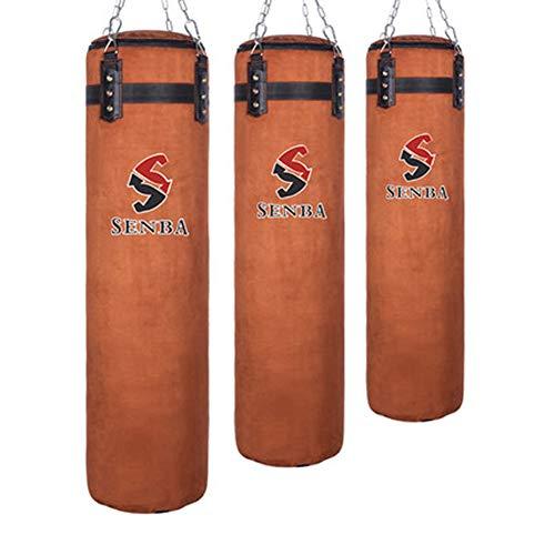 CXSMKP Rindsleder Trete Boxen Boxsack Ständer Zum Erwachsene MMA Muay Thai Taekwondo Box Sandsack, Sport Fitness Ausbildung Übung Ausrüstung, Zum Boxen Sanda,1 Pcs,80cm