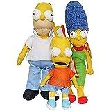 Pzpgeq Juguete de llenado de Peluche Simpson A Homer J. Margbart Muñeca de llenado Regalo 40 cm 3 Piezas para niños Fan, película, animación, cumpleaños, Navidad