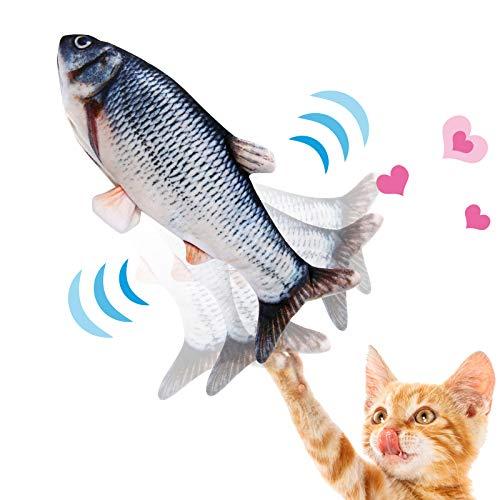 NINECY Katzenspielzeug Fisch Elektrisch, Katzen Spielzeug Zappelnder Fisch mit...