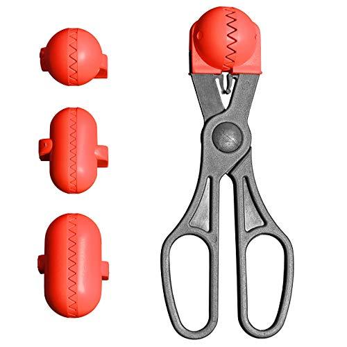 La Croquetera - Color Rojo - utensilio Multiuso con 4 moldes Intercambiables para masas- para croquetas, albóndigas, Bolas, Sushi - 100% español : Patentado y Fabricado en España
